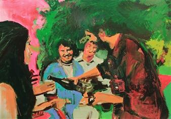 Maria José Cabral - 1995 #1 Mixed Media on Paper, Mixed Media