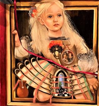 Rosana Largo Rodríguez - Menina Oil on Canvas, Paintings