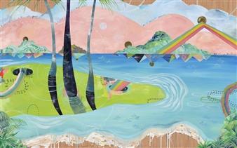 Jennifer Valenzuela - Ho'omana'o (remember) Oil on Panel, Paintings