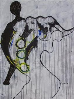 Doofan Kwaghhool - Va Se Vine Amar II Acrylic on Canvas, Paintings