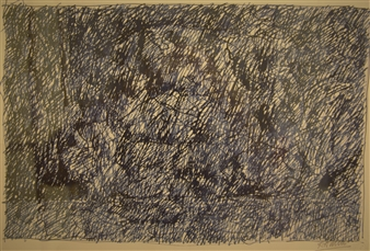 Caspar Baum - Sketch for Night in the Garden Pen on Paper, Drawings