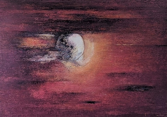 Madhuri Bhaduri - The Moon 3 Oil on Canvas, Paintings