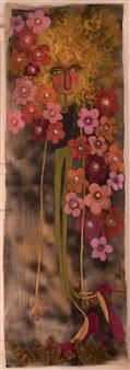 Mar De Redin - Autoretrato Mara Acrylic & Mixed Media on Linen Canvas, Mixed Media