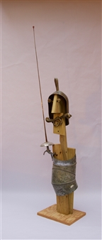 Emil Silberman - A Knight Wood & Steel, Mixed Media