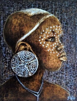 Clara de Bobes - Suri Girl Oil on Canvas, Paintings