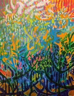 Rachel Misenar - Coral Bay Acrylic on Canvas, Paintings