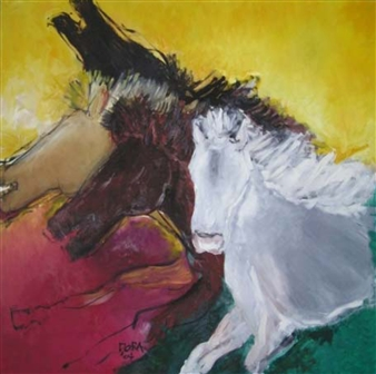 Vasant Dora - Untitled 1 Oil on Canvas, Paintings
