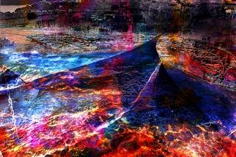Frédérique Négrié - Luminescence 3 Digital Painting on Aluminum, Digital Art