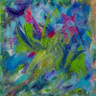 Anna K Art Katja van den Bogaert - Pink Sky Acrylic on Linen, Paintings
