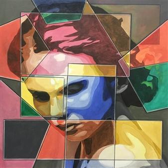 Don Kosta - Fear Acrylic on Canvas, Paintings