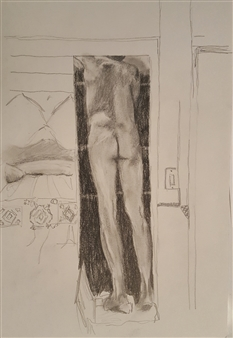 Anna Weichert - Sketch 1 for the Man in the Closet Pencil on Paper, Drawings