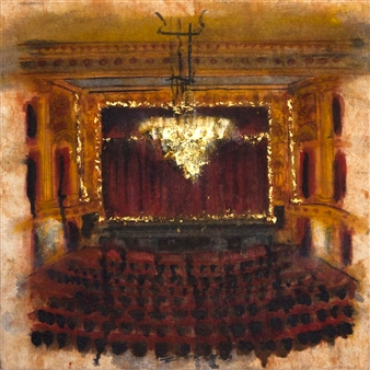Fernando Ekman - Thalian Hall Oil & Pastel on Canvas, Paintings