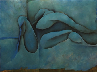 Larry Greenberg - Opus 401 Oil on Canvas, Paintings