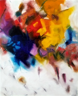 Eric Carter - Abstract 2 Acrylic & Oil on Canvas, Paintings