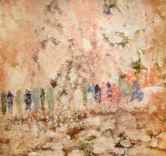 Joe Koury - White Spring Acrylic on Canvas, Paintings