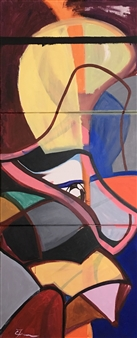 Craig Freeman - Birds Nest Acrylic on Canvas, Paintings