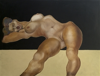 Gail Comes - Large Nude Oil on Canvas, Paintings
