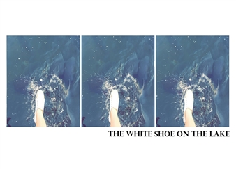 Marcos M. dos Santos - The White Shoe on the Lake Digital Collage on Paper, Digital Art