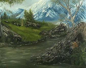 Tsila Mackay - Cool Air Oil on Canvas, Paintings
