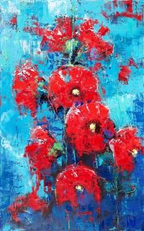 Olena Bogatska - Mallow Oil on Canvas, Paintings