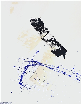 Merritt Spangler - Blase No. 1 Acrylic on Paper, Paintings