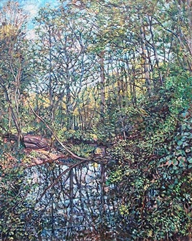 James Chisholm - Millbrook Pond Oil on Linen, Paintings
