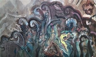 Maciej Marecki - Fale Acrylic on Panel, Paintings