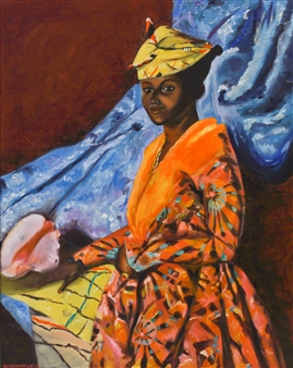 Corinne Garese - Martiniquaise Oil on Canvas, Paintings