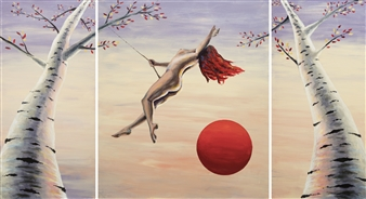 Anna Zubets-Anderson - Still, Like Air, I Rise Acrylic on Canvas, Paintings