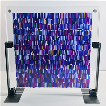 Fleur Cowgill - Violet Film Gel on Acrylic, Sculpture