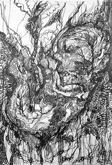 Kaoru Kushima - Unbornchild Pen on Paper, Drawings