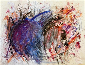 Ronnie Genotti - Tangle (Study) Pastel on Paper, Paintings