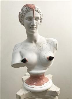 Gabriele Pellerone - Venere Tatuata Plaster & Rubber, Sculpture