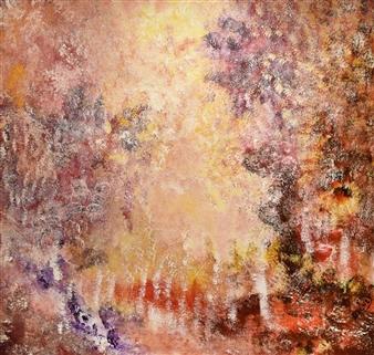 Joe Koury - Energetic Joy Acrylic on Canvas, Paintings