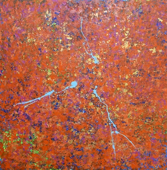Belle Roth - Cairo Day 1 Acrylic on Canvas, Paintings