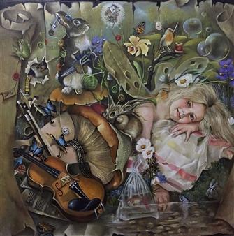 Rosana Largo Rodríguez - Dreams Oil on Canvas, Paintings