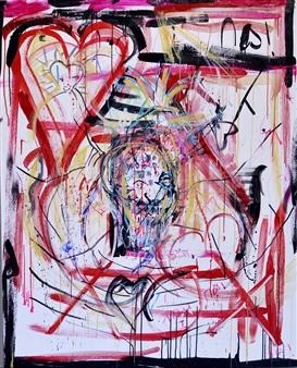 Bex Wilkinson - Love is Bullshit Acrylic on Canvas, Paintings