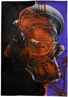 Jon Kraja - My Shade 202 Acrylic on Board, Paintings