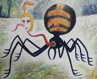 Jose Pedro Alonso Miralles - La Viuda Negra Oil on Canvas, Paintings