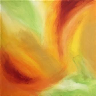 Travis Ballantyne - Petals Acrylic on Canvas, Paintings