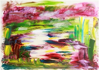 Christine Lückmann - That River Mosel Oil on Canvas, Paintings