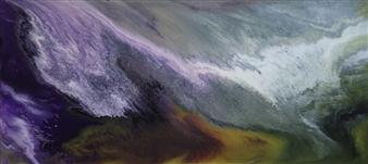 Alla Struchaieva - Cosmic Dust I Oil on Canvas, Paintings