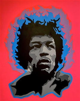 Gianpiero Palermo - Jimi HENDRIX Acrylic on Canvas, Paintings