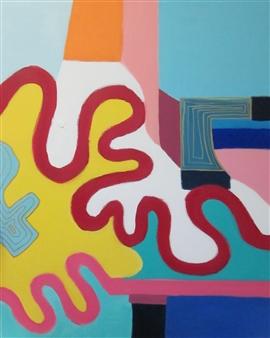Claudia Mini - Scheinwerfer Acrylic on Canvas, Paintings
