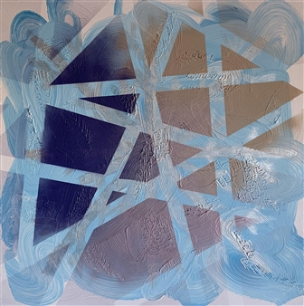 Yulia Stephan - Snowflake Acrylic & Spraypaint on Canvas, Paintings