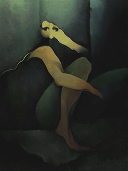 Larry Greenberg - Opus 423 Oil on Canvas, Paintings