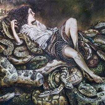 Germán Valles Fernández - The Medusa Oil on Canvas, Paintings