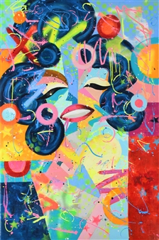 Lisa Gehres - California Dreaming Acrylic & Spraypaint on Canvas, Paintings
