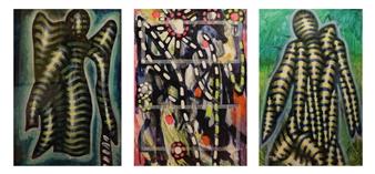 Koncept Feniks - Angel_01, 1987-2015 Dispersion & Gouache on Paper, Paintings