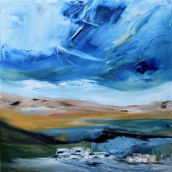 Rine Philbin - Landscape #2 Oil on Canvas, Paintings